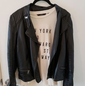 Vero Moda New York Cream T